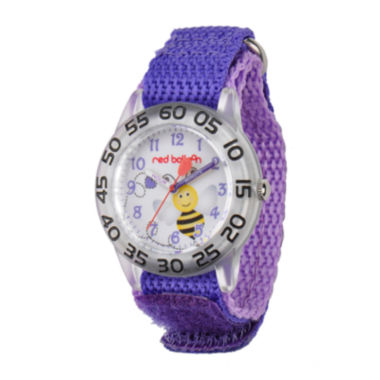 jcpenney.com | Red Balloon™ Girls Purple Bee Strap Watch