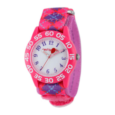 jcpenney.com | Red Balloon™ Girls Pink and Purple Plaid Strap Watch
