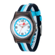 Red Balloon™ Kids Blue Striped Nylon Strap Watch