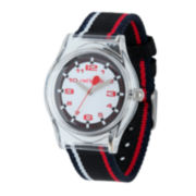 Red Balloon™ Kids Black, Red and White Striped Strap Watch