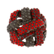 Mixit™ Hematite Red Stone Stretch Ring