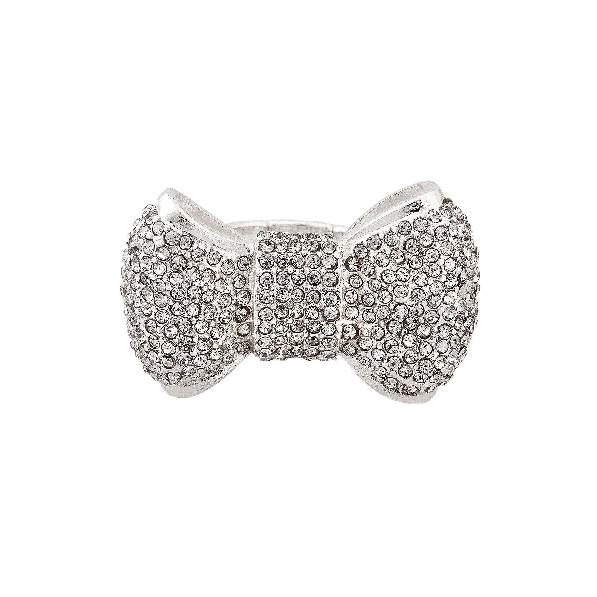 Mixit™ Silver-Tone Bow Stretch Ring