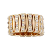 Mixit™ Gold Stretch Ring with Crystal Ring