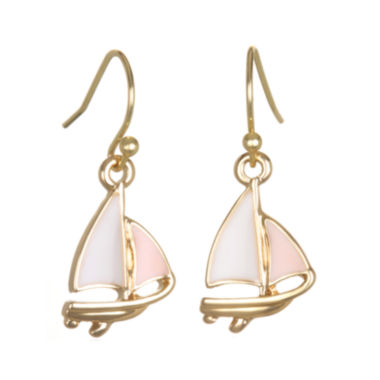 jcpenney.com | Mixit™ Gold-Tone Sailboat Stud Earrings