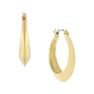 jcpenney.com | nicole by Nicole Miller® Gold-Tone Hallow Hoop Earrings