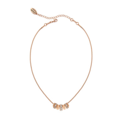 jcpenney.com | nicole by Nicole Miller® Crystal Rose Gold-Tone Necklace