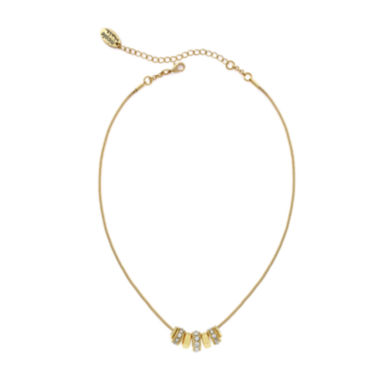 jcpenney.com | nicole by Nicole Miller® Gold-Tone Crystal Rondell Hoop Necklace