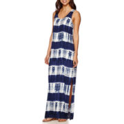 Trulli Sleeveless Stripe Tie-Dyed Maxi Dress