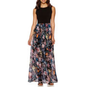 Trulli Sleeveless Floral Print Maxi Dress