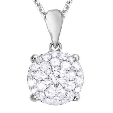 jcpenney.com | LIMITED QUANTITIES 1/4 CT. T.W. Diamond 14K White Gold Pendant Necklace