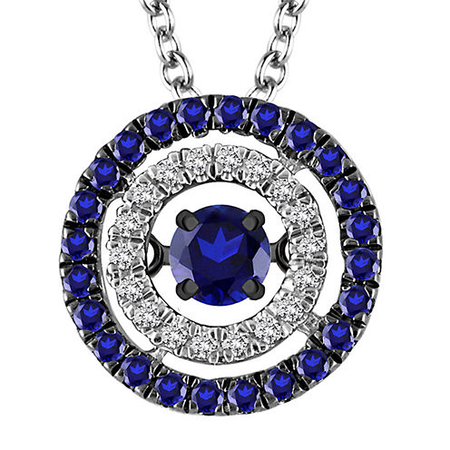LIMITED QUANTITIES 1/3 CT. T.W. White and Color-Enhanced Blue Diamond Pendant