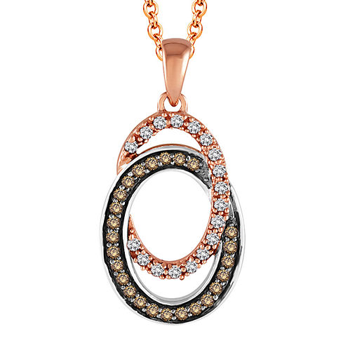 LIMITED QUANTITIES 3/8 CT. T.W. White and Color-Enhanced Champagne Diamond Pendant