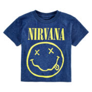 Novelty Short-Sleeve Nirvana Rock Tee - Toddler Boys 2t-5t