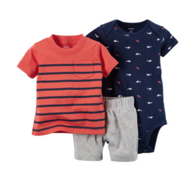 jcpenney.com | Carter's® 3-pc. Bodysuit and Shorts - Baby Boys newborn-24m