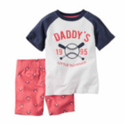Carter's® 2-pc. Ball Tee and Shorts Set - Baby Boys newborn-24m