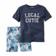 Carter's® 2-pc. Cutie Top and Shorts Set - Baby Boys newborn-24m