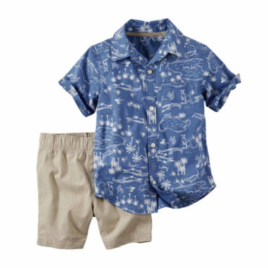 jcpenney.com | Carter's® 2-pc. Button-Front Top and Shorts Set - Baby Boys newborn-24m