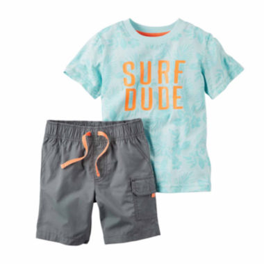 jcpenney.com | Carter's® 2-pc. Surf Top and Shorts Set - Baby Boys newborn-24m
