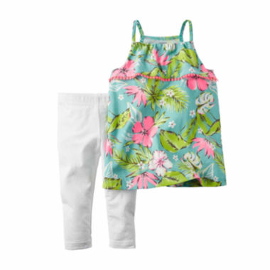 jcpenney.com | Carter's® 2-pc. Tropical Top and Leggings Set - Baby Girls newborn-24m