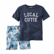 Carter's® 2-pc. Local Cutie Top and Shorts Set - Toddler Boys 2t-5t
