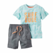 Carter's® 2-pc. Ivory Chambray Tee and Shorts Set - Toddler Boys 2t-5t