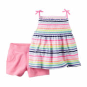 Carter's® 2-pc. Striped Tank Top and Shorts Set - Toddler Girls 2t-5t