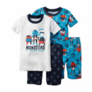 Carter's® 4-pc. Monster Pajama Set - Toddler Boys 2t-5t