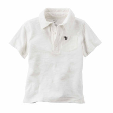 jcpenney.com | Carter's® Ivory Polo Shirt - Preschool Boys 4-7