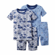 Carter's® 4-pc. Shark Pajama Set - Toddler Boys 2t-5t