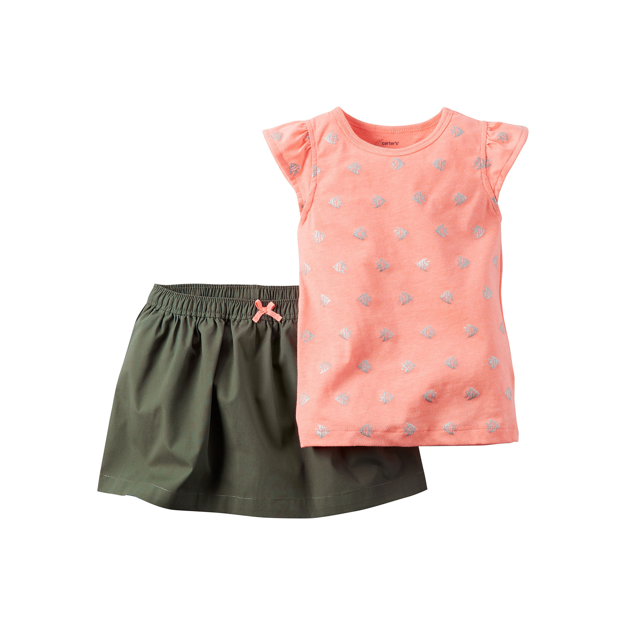 Carter's 2-pc. Top and Skirt Set - Baby Girls newborn-24m plus size,  plus size fashion plus size appare