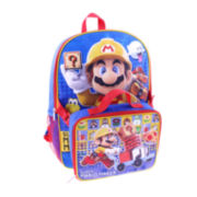 Mario Maker Backpack With Lunch Box- Boys