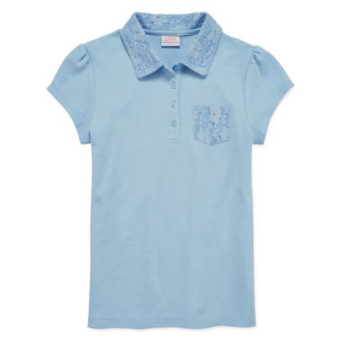 jcpenney.com | IZOD® Short-Sleeve Lace-Collar Polo - Girls 7-16 and Plus