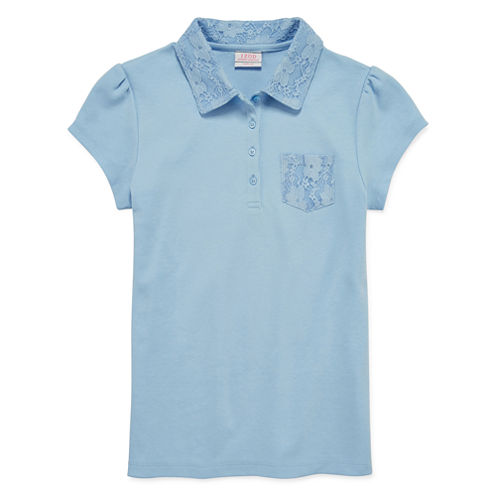 IZOD® Short-Sleeve Lace-Collar Polo - Girls 7-16 and Plus