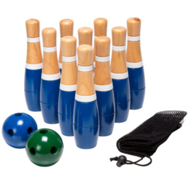 "jcpenney.com | Hey! Play! 8"" Wooden Lawn Bowling Set"