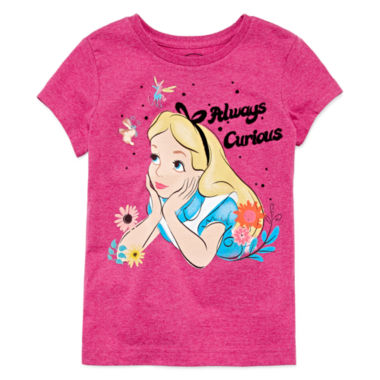 jcpenney.com | Disney Collection Short-Sleeve Alice Graphic Tee - Girls 7-16