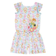 Disney Collection Flutter-Sleeve Frozen Romper - Girls 2-10