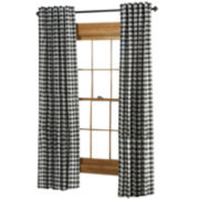 Classic Check 2-Pack Rod-Pocket/Back-Tab Curtain Panels