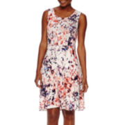 a.n.a® Sleeveless Fit-and-Flare Sundress - Petite