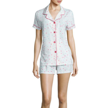 jcpenney.com | Warm Milk by BedHead Short-Sleeve Top and Shorts Pajama Set