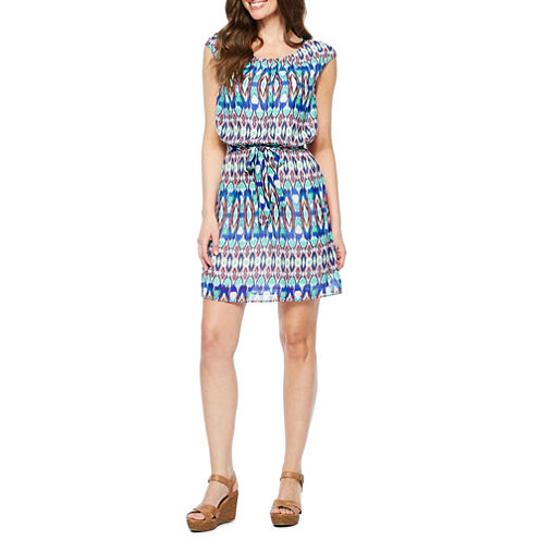 Robbie Bee Sleeveless Blouson Dress
