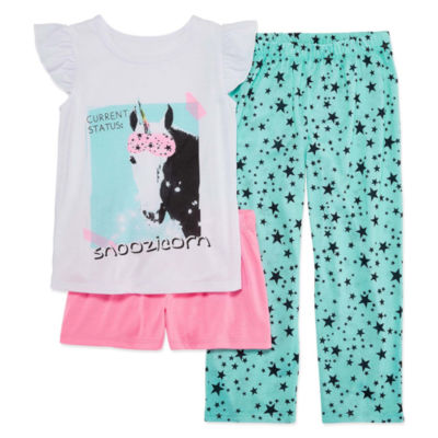Total Girl 3-pc. Pajama Set Girls