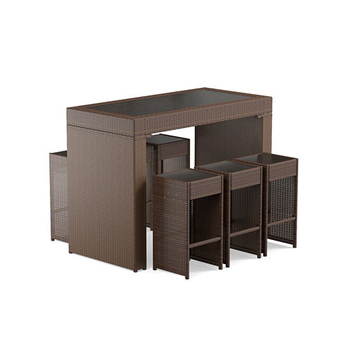 Lyra 7-pc. Patio Bar Set