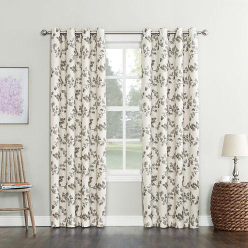 Sun Zero Nicolette Room-Darkening Grommet-Top Curtain Panel