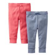 Carter's® 2-pk. Pants - Girls newborn-24m