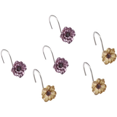 jcpenney.com | Queen Street® Carlyon Floral Shower Curtain Hooks
