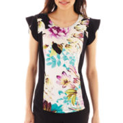 Worthington® Pieced Scoopneck Top - Petite