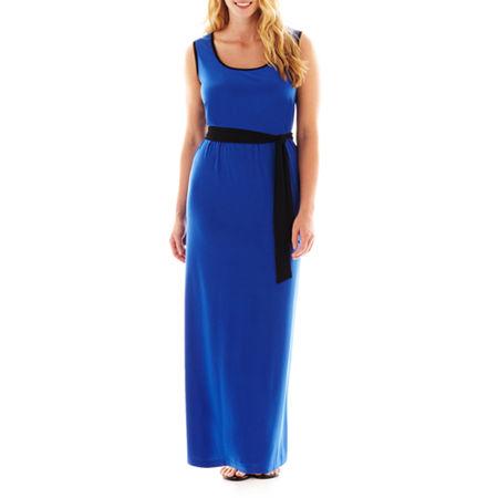 MSK Sleeveless Maxi Dress with Sash - Plus
