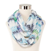 Zigzag Pleated Loop Scarf