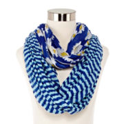 Striped Daisy Loop Scarf