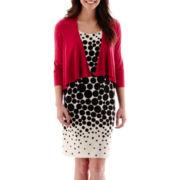 Studio 1® Graduated Dot Belted Jacket Dress